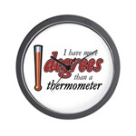 Degrees / Thermometer Wall Clock