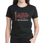 Degrees / Thermometer Women's Dark T-Shirt