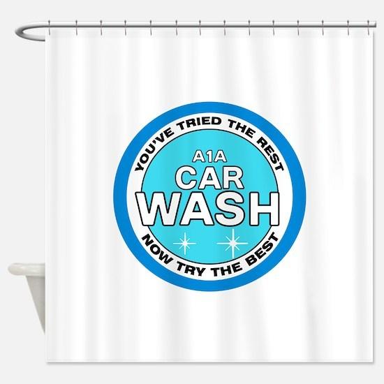 A1A Car Wash Shower Curtain