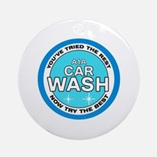 A1A Car Wash Ornament (Round)