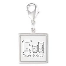 Yeah, Science! Silver Square Charm