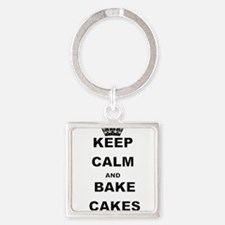 KEEP CALM AND BAKE CAKES Keychains