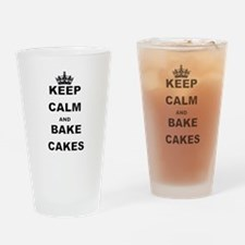 KEEP CALM AND BAKE CAKES Drinking Glass
