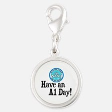 Have an A1 Day! Silver Round Charm