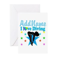 LOVE DIVING Greeting Card