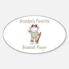 Grandpa's Baseball Monkey Decal