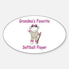Grandmas Softball Monkey Decal
