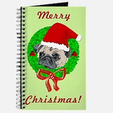 Merry Christmas Pug Journal