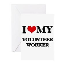 I love my Volunteer Worker Greeting Cards