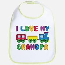 Love Grandpa Train Bib