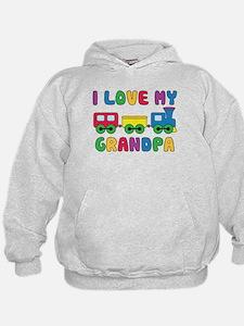 Love Grandpa Train Hoodie