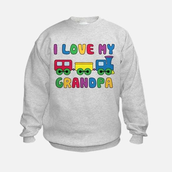 Love Grandpa Train Sweatshirt
