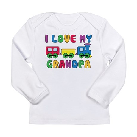 Love Grandpa Train Long Sleeve Infant T-Shirt