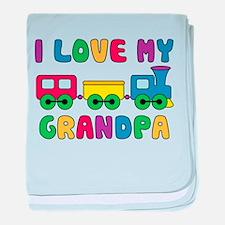 Love Grandpa Train baby blanket