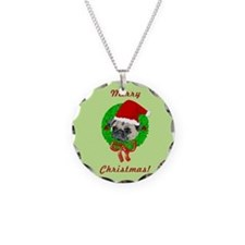 Merry Christmas Pug Necklace