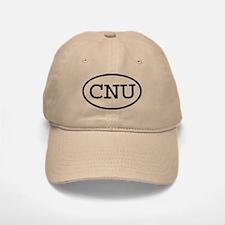 CNU Oval Baseball Baseball Cap