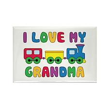 Love My Grandma Rectangle Magnet