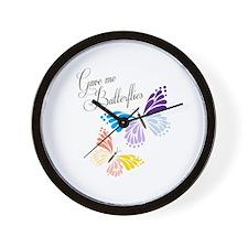 Gave Me Butterflies Wall Clock