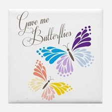 Gave Me Butterflies Tile Coaster