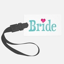 Bride Turquoise Pink Luggage Tag