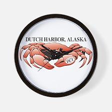 Dutch Harbor King Crab Wall Clock