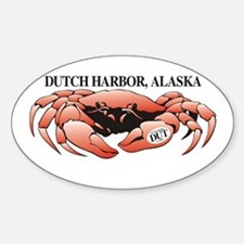 Dutch Harbor King Crab Oval Decal