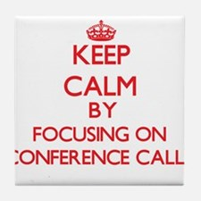 Conference Calls Tile Coaster