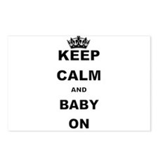 KEEP CALM AND BABY ON Postcards (Package of 8)