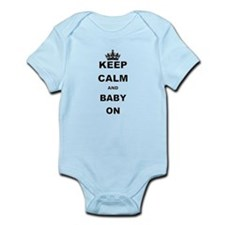 KEEP CALM AND BABY ON Body Suit