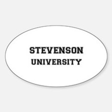 STEVENSON UNIVERSITY Oval Decal