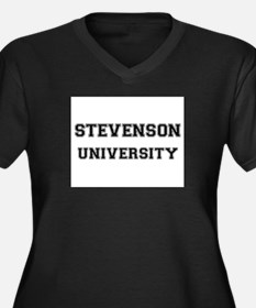 STEVENSON UNIVERSITY Women's Plus Size V-Neck Dark