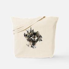 Watercolor Wolf Mountain Art Tote Bag
