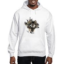 Watercolor Wolf Mountain Art Hoodie Sweatshirt