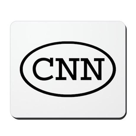 CNN Oval Mousepad