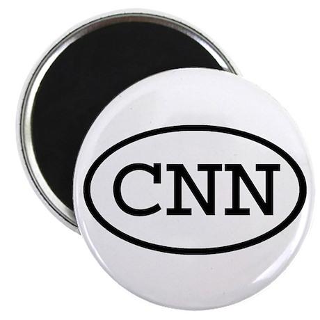 """CNN Oval 2.25"""" Magnet (100 pack)"""