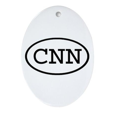 CNN Oval Oval Ornament