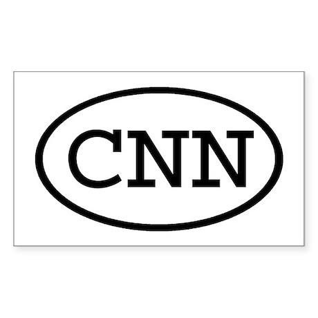 CNN Oval Rectangle Sticker