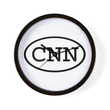 CNN Oval Wall Clock
