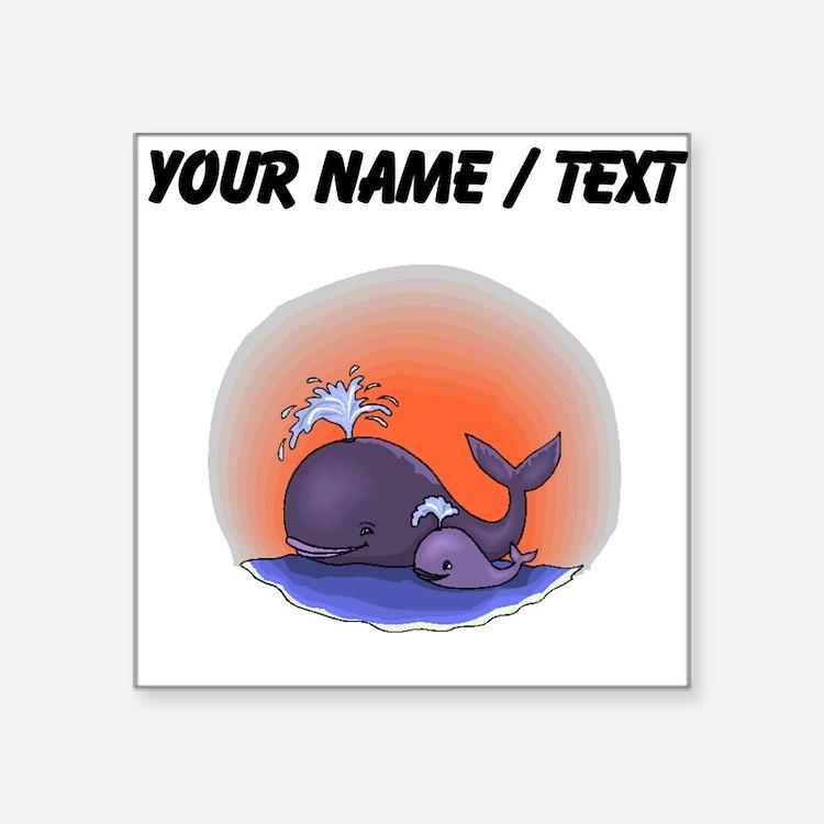 Custom Whale Family Sticker