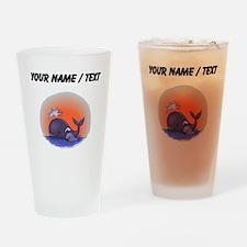 Custom Whale Family Drinking Glass