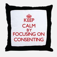 Consenting Throw Pillow