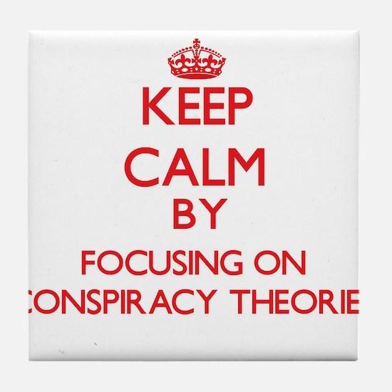 Conspiracy Theories Tile Coaster