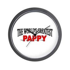 """The World's Greatest Pappy"" Wall Clock"