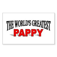 """""""The World's Greatest Pappy"""" Rectangle Decal"""