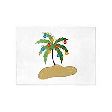 Tropical Christmas 5'x7'Area Rug