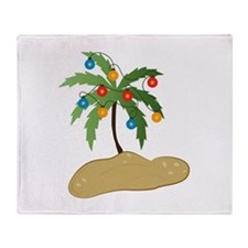 Tropical Christmas Throw Blanket