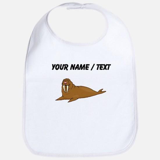 Custom Brown Walrus Bib