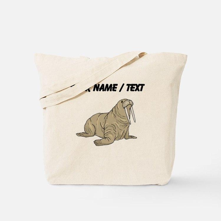 Custom Brown Walrus Tote Bag