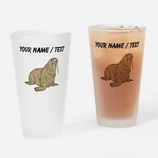 Custom Brown Walrus Drinking Glass