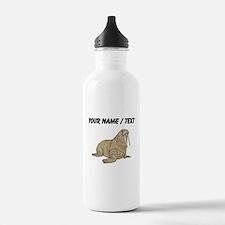 Custom Brown Walrus Water Bottle